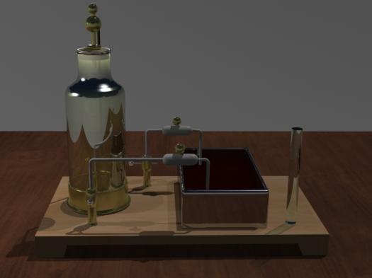 Tesla apparatus 1896 (3d model, partial render)- Teylers Museum, Haarlem, Netherlands