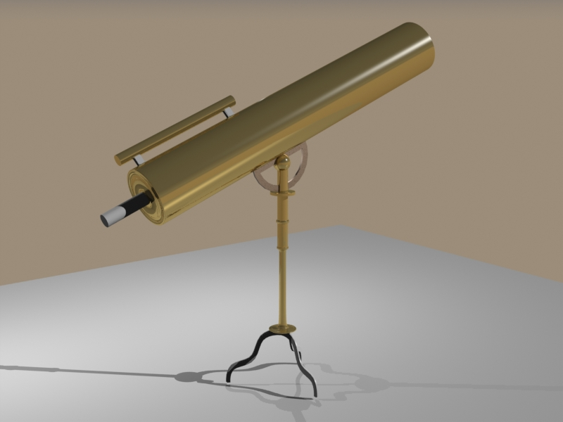 Telescope, preview with copper texture added