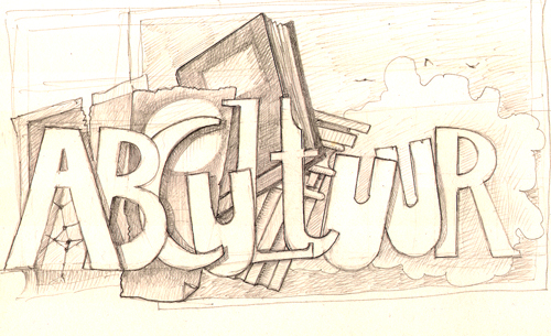 banner for ABCultuur website - pencil sketch