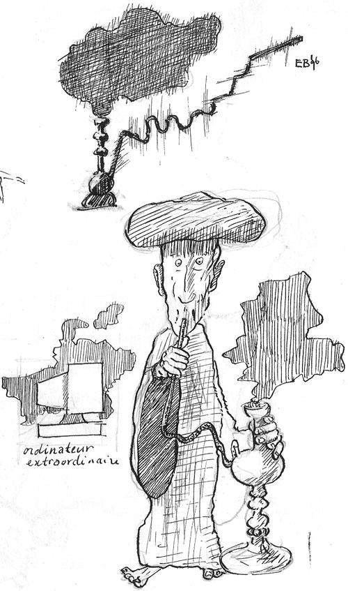 fragment of sketchbook-page