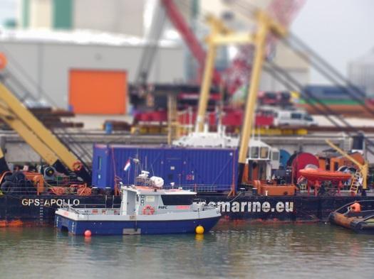 Picture of port activities in the Dutch port of Eemshaven