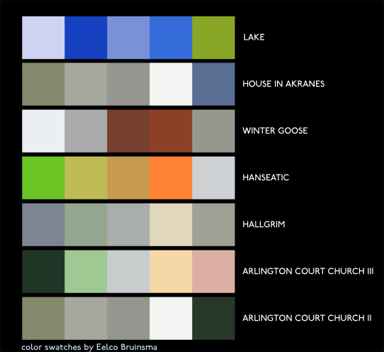 thoughtful coulour swatches, made in Adobe Kuler