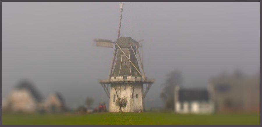 Windmill. Molen Klein Wetsinge Tiltshift