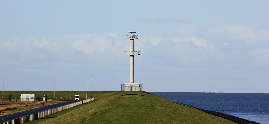 Radar installation. Eemshaven, Netherlands. Photo: Eelco Bruinsma 28-10-2012.