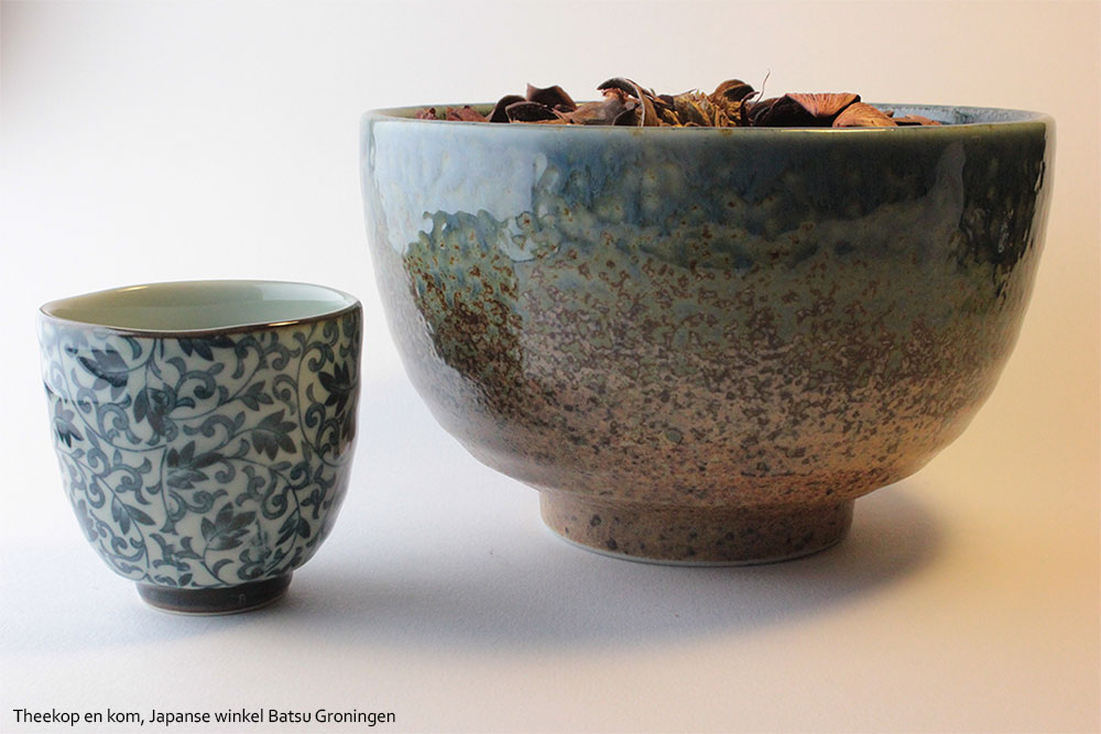 Japanese bowl and tea-cup