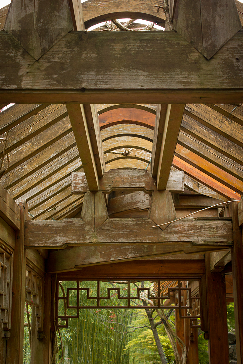 Horus Haren (NL), wooden construction in the chinese garden (foto Eelco Bruinsma)