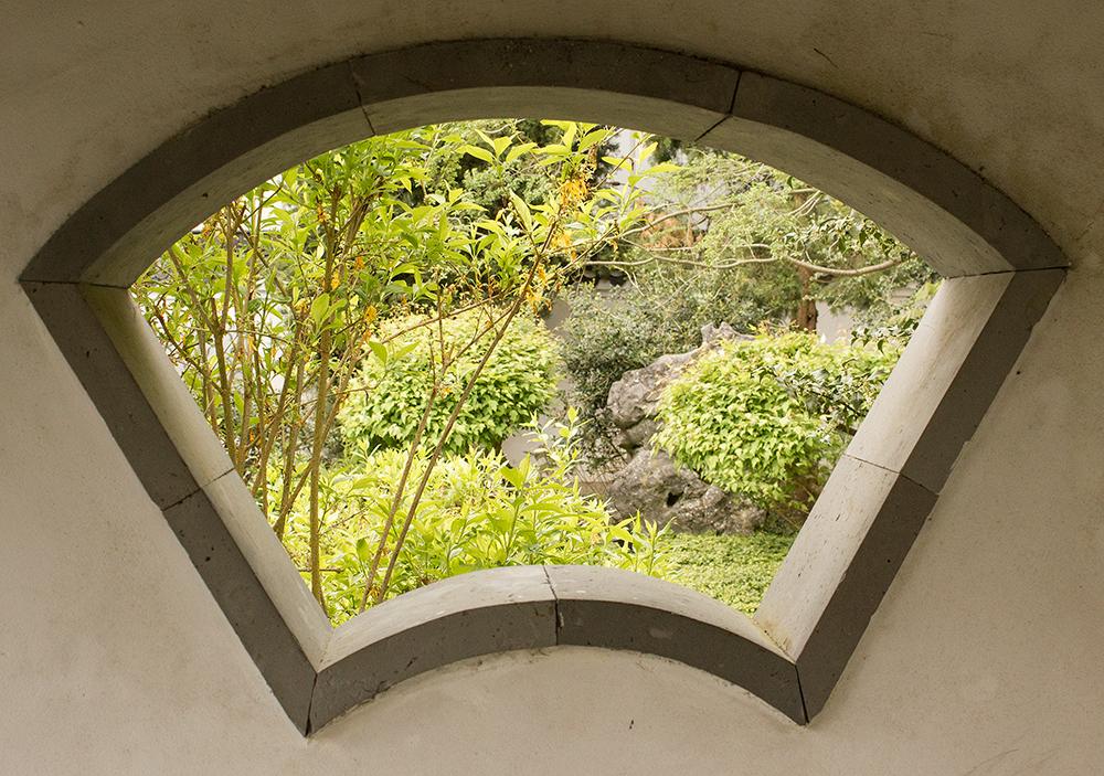 Hortus Haren (NL), chinese garden, architectural detail