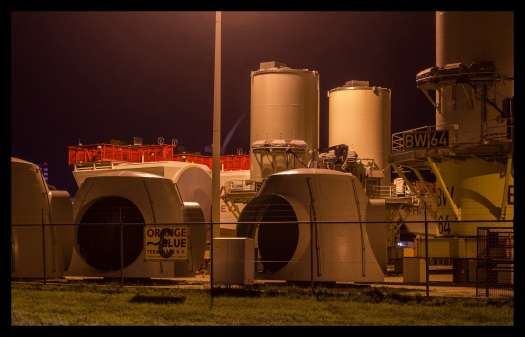 Windturbine assembly site, Eemshaven, Netherlands. Photo by Eelco Bruinsma