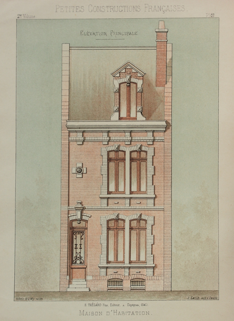 Architectural drawing for a town house, 1893.
