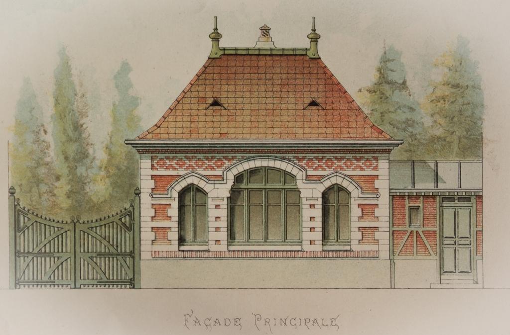 Hunting lodge (Pavillon de Chasse) from the portfolio 'Petites Constructions Françaises' (ca. 1893).