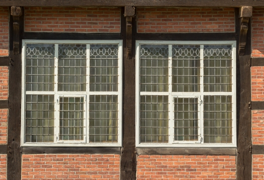 Window and wall, half-timbered construction (Fachwerk)