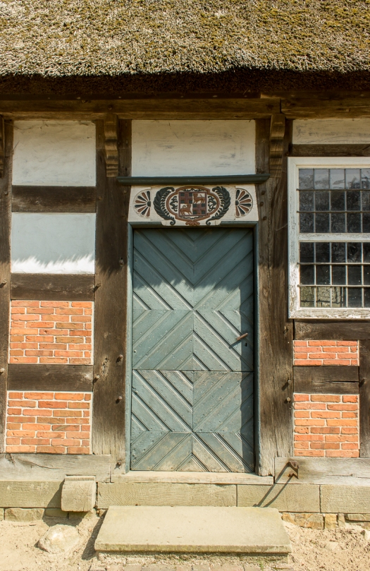 Ornamental door, with more squares