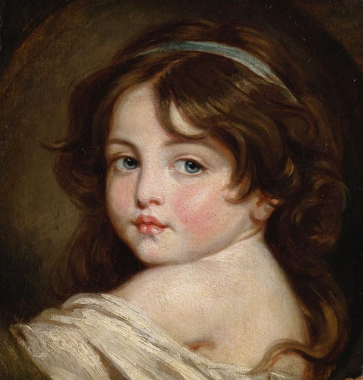'Portrait of a Young Girl' by Jean-Baptiste Greuze (1725-1805). Royal Collection, Buckingham Palace.