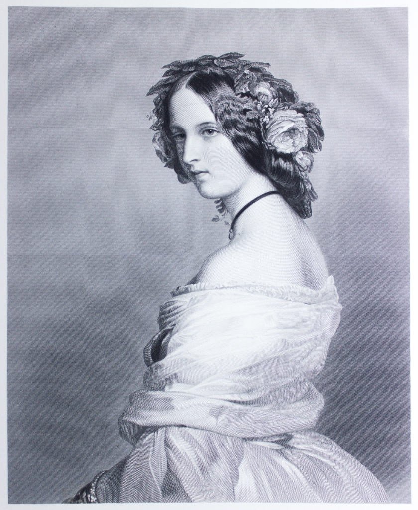 'Lady Constance' after F. Winterhalter. Royal Collection Osborne, ca. 1852. 19th Century reproduction engraving.