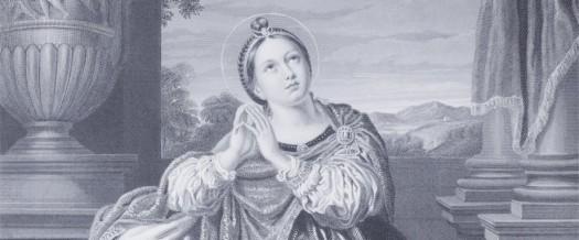 De Heilige Agnes. Detail uit de boeken van Hall.