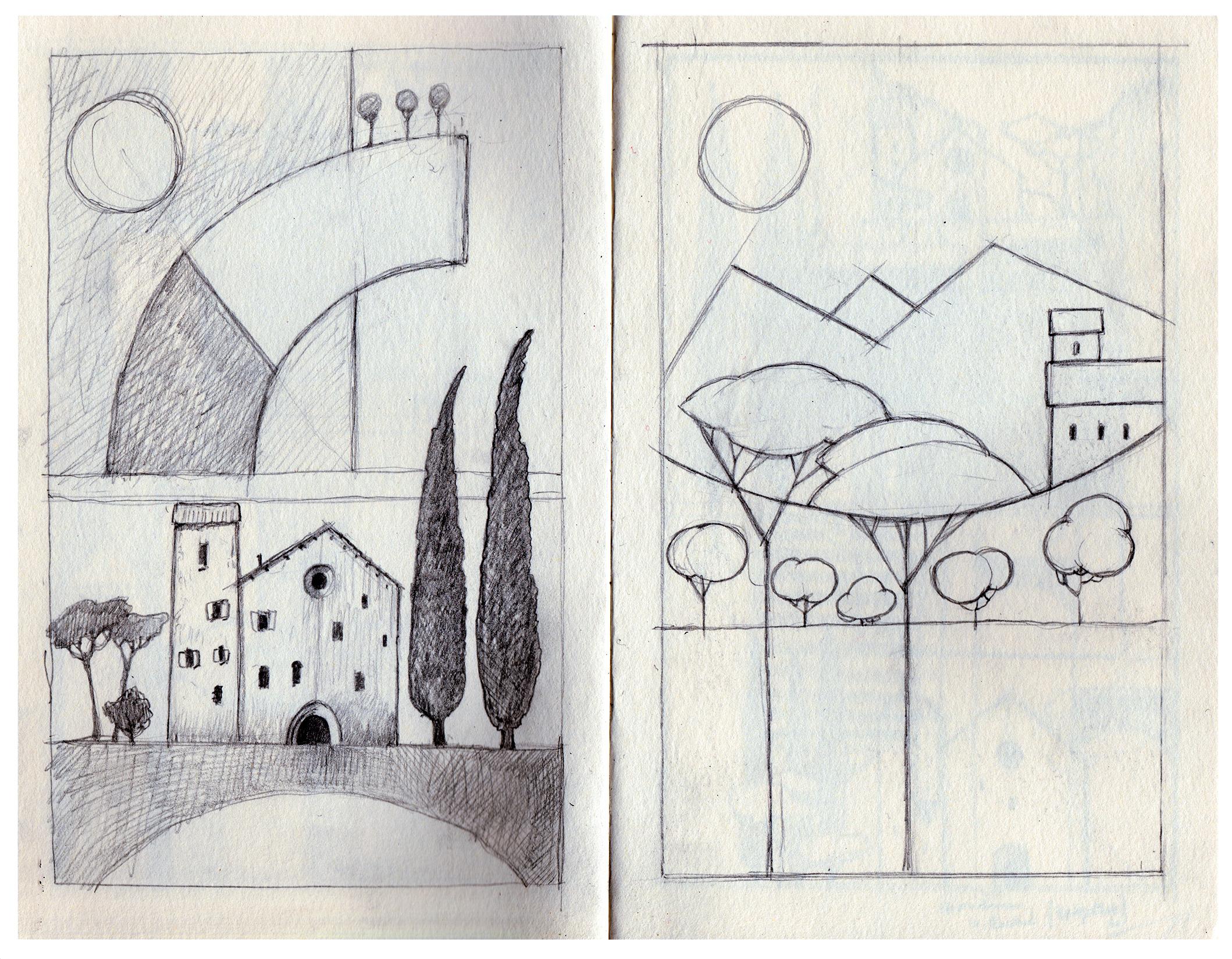 Page of my Hahnemühle sketchbook.